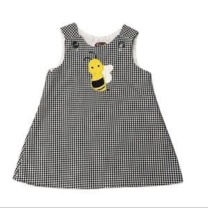 KIDS Lolly Wolly Doodle Bee Appliqué Dress